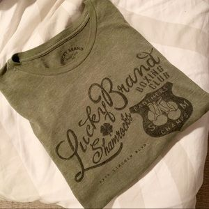 Lucky Brand Olive Green Large Graphic T Shirt!